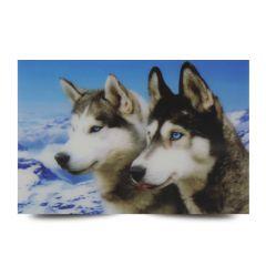 3D Fotokarten Huskys - Postkarten 16cm x 11cm