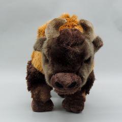Amerikanischer Bison aus Plüsch stehend 20 cm