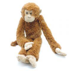 Affe braun mit Klettverschluss
