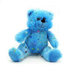 Neon Glitzerstern Bär blau