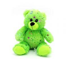 Neon Glitzerstern Bär grün