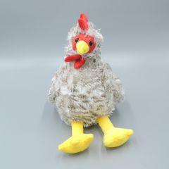 Huhn  sitzend, Plüsch Hähne weißbeige