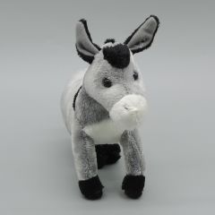 Kuscheltier Esel grau stehend