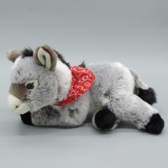Esel mit rotem Halstuch