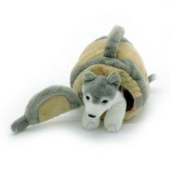 Husky, Hund mit Tragetasche