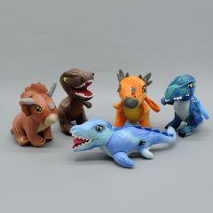 Jurassic World - Dinosaurier Plüsch Schlüsselanhänger, 5 verschieden Typen