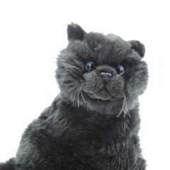 Katze Schwarz - hockend