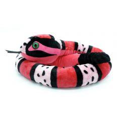 Schlange mit Klapper rosa (135cm)