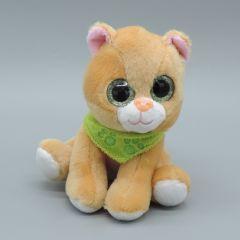 Glubschaugen Katze, hellbraun mit grünem Halstuch