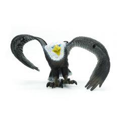 Riesenadler aus Gummi, schwarz, 54 cm Flügelspannweite