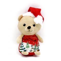 Weihnachtsplüschtiere Bär hellbraun - Merry Christmas