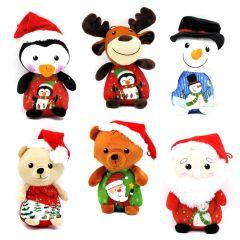 Weihnachtsplüschfigur verschiedene Motive mit Weihnachtsmotiven
