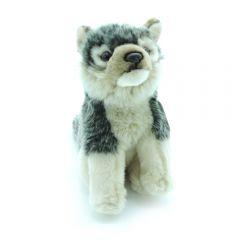 Wolf hockend